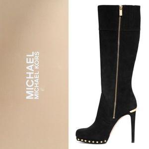 EUC Michael Kors Black Tall Platform Boots Ailee